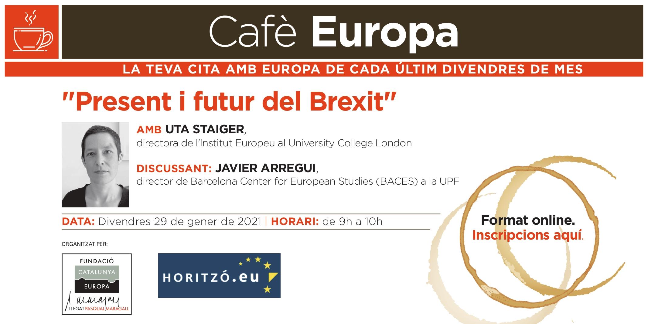 """Café Europa: """"Presente y futuro del Brexit"""", con Uta Staiger"""